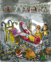 Cartoon: Grave-chamber found! (small) by GB tagged santa claus weihnachtsmann christkind christmas grabmal beigaben geschenke entdeckung ruhestätte mumie einbalsamierung