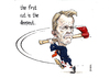 Cartoon: David Laws the axeman goeth (small) by barker tagged david,laws,cuts,resignation,libdem,cartoon,caricature