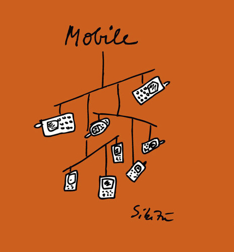 Cartoon: mobile (medium) by sikitu tagged mobile,handy,telefon,mobil