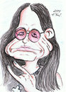 Cartoon: Ozzy Osbourne (small) by DeviantDoodles tagged caricature music famous metal rock singer