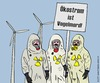 Cartoon: Die Besorgten (small) by thalasso tagged ökostrom,akw,kernenergie,gau,supergau,japan,fukushima,besorgnis,demonstranten,schutzanzug,vogelmord,windkraft,umweltschutz