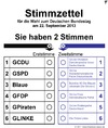 Cartoon: Stimmzettel 2013 (small) by thalasso tagged wahl,wahlen,bundestagswahl,2013,cdu,fdp,spd,grüne,stimmzettel,urne