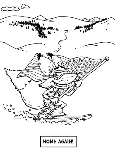 Cartoon: Adaptive Spirit Coloring Book p8 (medium) by karlwimer tagged adaptive,spirit,coloring,book,skiing,fox,paralympics