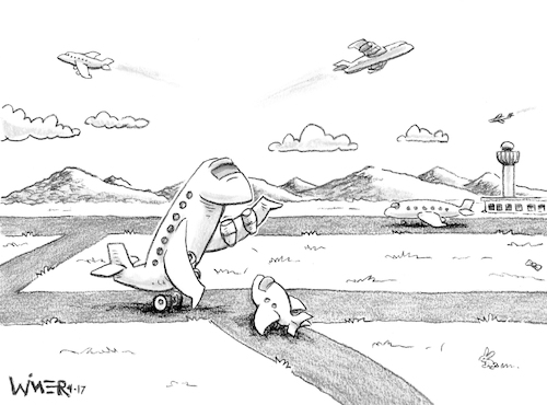Cartoon: Caption Contest Fathers Day (medium) by karlwimer tagged airplane,airport,flight,fathers,day,aircraft,bowtie