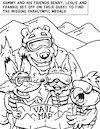 Cartoon: Adaptive Spirit Coloring Book 2 (small) by karlwimer tagged ski,snowboard,bear,fox,falcon,lynx,vail,snowsports,adaptive,winter