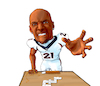 Cartoon: Aqib Talib Dominoes Gold Chains (small) by karlwimer tagged football,american,usa,denver,broncos,dominoes,aqib,talib,gold,chains,sports