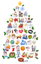 Cartoon: Christmas Holiday Card (small) by karlwimer tagged christmas,new,years,card,tree