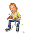 Cartoon: IKEA Forsberg (small) by karlwimer tagged peter,forsberg,avalanche,ice,hockey,colorado,sweden,sports,ikea,meatballs