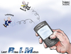 Cartoon: Last Rites in Motion (small) by karlwimer tagged blackberry,rim,basilie,lazaridis,technology,business,smartphone