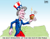 Cartoon: Uncle Sam Birthday (small) by karlwimer tagged uncle,sam,dos,equis,usa,birthday,july4