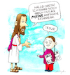 Cartoon: Deja-vu (small) by droigks tagged religion,jesus,greta,thunberg,klima,anthropzentrische,erderwärmung,friday,for,future