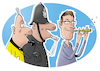 Cartoon: Whistleblower (small) by droigks tagged geheimdienst,whistleblower,edward,snowden,nsa,abhöraffäre