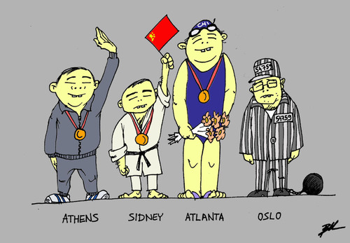 Cartoon: Chinese medals (medium) by Ballner tagged liu,xiaobo