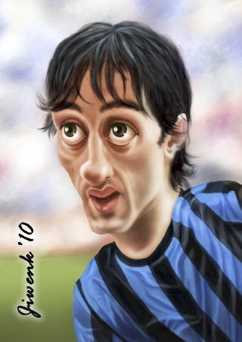 Cartoon: Diego Milito (medium) by Jiwenk tagged diego,milito
