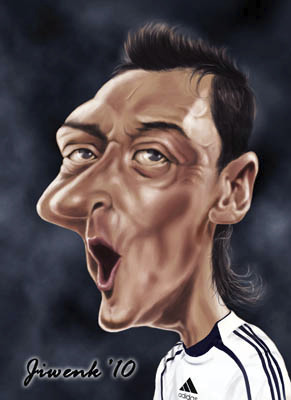 Cartoon: Mesut Ozil (medium) by Jiwenk tagged mesut,ozil