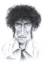 Cartoon: Bob Dylan (small) by Stefan Kahlhammer tagged bob,dylan,karikatur,kahlhammer,bleistift,zeichnung,drawing,pencil,flankale,flankalan,caricature