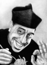 Cartoon: Don Camillo loves Pasta (small) by Stefan Kahlhammer tagged pitch,pizza,spaghetti,pizzapitch,camillo,don,fernandel,kahlhammer,karikatur,flankale,flankalan,caricature