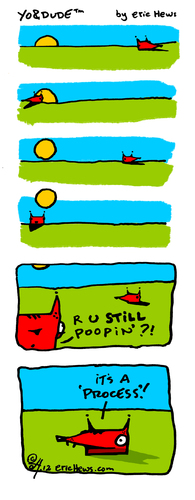 Cartoon: morning routine (medium) by ericHews tagged regimen,routine,poop,process,morning,sunrise