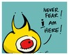 Cartoon: never fear (small) by ericHews tagged peepbot,bot,peep,fear,save,hero,never,the,day
