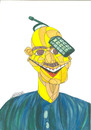 Cartoon: Mobile (small) by omar seddek mostafa tagged mobile