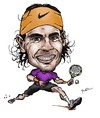Cartoon: Rafael Nadal (small) by Perics tagged rafael,nadal,tennis,caricature,atp,tour