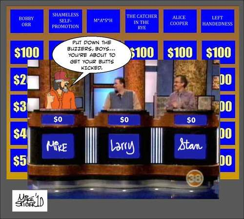 Cartoon: This is Jeopardy (medium) by Mike Spicer tagged mike,spicer,cartoonist,humour,caricature