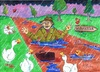 Cartoon: Doctor Foster (small) by Kerina Strevens tagged rain,water,shower,wet,ducks,puddle,nursery,rhyme,children