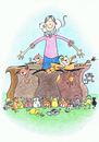 Cartoon: How Many Were Going To St. Ives? (small) by Kerina Strevens tagged nursery rhyme cats kittens journies