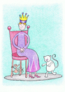Cartoon: Visiting the Queen (small) by Kerina Strevens tagged children nursery rhyme queen mouse chair london cat