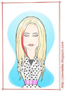 Cartoon: Avril Lavigne (small) by Freelah tagged avril lavigne pop music