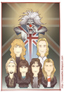 Cartoon: Iron Maiden - color (small) by Freelah tagged iron maiden