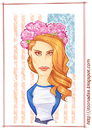 Cartoon: Lana Del Rey (small) by Freelah tagged lana,del,rey,videogames,bluejeans
