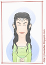 Cartoon: Liv Tyler - as Arwen (small) by Freelah tagged liv,tyler,arwen,lord,of,the,rings