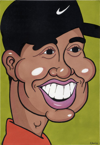 Cartoon: Tiger Woods (medium) by Ca11an tagged tiger,woods,caricature,golf,st,andrews