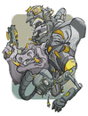 Cartoon: SpaceTroop (small) by Leonardo Pandolfi tagged leonardopandolfi,illustration,comics