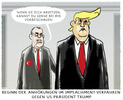 Cartoon: Erdogans Trumpbesuch (medium) by markus-grolik tagged trump,donald,us,usa,präsident,impeachment,anhörungen,republikaner,washington,türkei,erdogan,syrien,kurden,öl,ankara,trump,donald,us,usa,präsident,impeachment,anhörungen,republikaner,washington,türkei,erdogan,syrien,kurden,öl,ankara