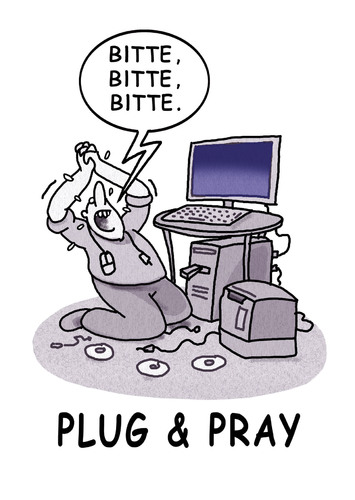 Cartoon: plugandpray (medium) by markus-grolik tagged pc