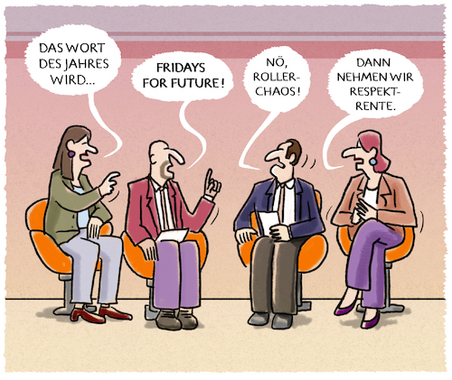 Cartoon: Selektion (medium) by markus-grolik tagged rspektrente,wort,des,jahres,fridays,for,future,rollerchaos,rspektrente,wort,des,jahres,fridays,for,future,rollerchaos