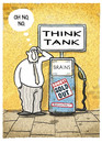Cartoon: ... (small) by markus-grolik tagged think,tank,idea,ideas,clever,expert,experts,brain,brains,chief,expensive,bad,luck,cartoon,grolik