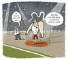 Cartoon: ...Verdachtsmoment... (small) by markus-grolik tagged rio,russland,sperre,olympia,doping,leichtathletik