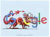 Cartoon: .... (small) by markus-grolik tagged zensur,google,peking,china,suchmaschine,diktatur,usa,yuan,dollar
