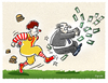 Cartoon: Big Mäc vs. Blatter (small) by markus-grolik tagged dfb,fifa,blatter,sepp,mac,donalds,coca,cola,sponsoring,geld,fussball,skandal,bestechung,wm,katar,cartoon,grolik