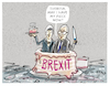 Cartoon: ...brexitcreamcakefudge... (small) by markus-grolik tagged eu,europa,brexit,theresa,may,juncker,brüssel,london,dub,irland,nordirland