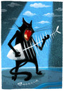 Cartoon: catfishboneblues (small) by markus-grolik tagged music,blues,guitar,cat,tomcat,got,the,sing,guitarhero,cartoon,grolik