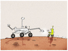 Cartoon: Is there daily life on Mars... (small) by markus-grolik tagged perseverance,mars,nasa,ausserirdisch,all,weltall,outerspace,alien