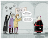 Cartoon: ...Kirchenprotest... (small) by markus-grolik tagged kirche,maria,frau,frauen,in,der,kirchenamt,papst,bischof,kardinal,kurie,nonnen,katholizismus,rom,vatikan,glaube,priester,priesterinnen,seelsorge,marx,petersdom,franziskus,gott,jesus