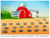 Cartoon: Nitratweltmeister.. (small) by markus-grolik tagged natur,artensterben,landwirtschaft,monokultur,boden,europa,subventionen,großbetriebe,bauern,klöckner,insekten,artenvielfalt,biodivers,landbau,soja,mais,raps
