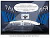 Cartoon: FIFA-Wahnsinn (small) by markus-grolik tagged fifa,korruption,wm,fussball,gianni,infantino,blatter,mafia,nationalmannschaft,jogi,löw,deutschland,dubai,amazon,austragungsort,übertragungsrechte,fernsehen,ard,zdf,weltmeisterschaft