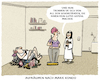 Cartoon: spark joy (small) by markus-grolik tagged kondo,marie,spark,joy,konmari,japan,deutschland,mann,frau,beziehung,trennung,ordnung,unordnung,messie,sauber,sauberkeit,luxus,glück,glücksratgeber,ratgeber,coach,lebenshilfe,bestseller,coaching,alltag