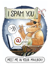 Cartoon: Tribute to the unknown spammer (small) by markus-grolik tagged spam email mailbox virus spmmer spammail pc computer lol